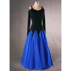 Women's Dancewear Spandex Organza Latin Dance Dresses (115091486)