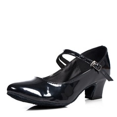 Women's Patent Leather Pumps Latin With Buckle Dance Shoes