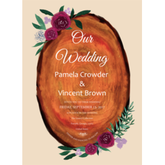 Delightful Blossoms Wedding Cards