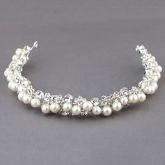 Fashion Rhinestone/Alloy/Imitation Pearls Headbands