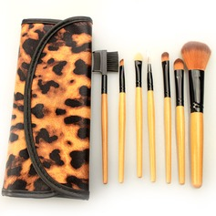 7Pcs Fabulous Makeup Brush Set With Leopard Bag #CB715
