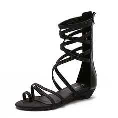 Women's Leatherette Wedge Heel Sandals shoes