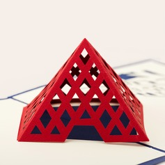 Three-dimensional Louvre Greeting Cards
