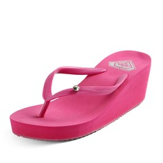 Women's PVC Wedge Heel Sandals Platform Wedges Flip-Flops shoes