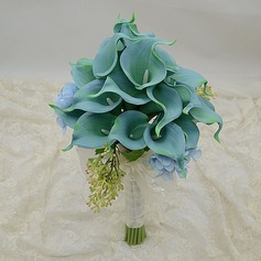 Bright Round Simulation PU Materials Bridesmaid Bouquets