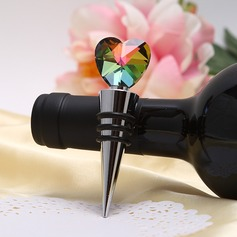 Hearts Shape Bottle Stoppers With Crystal