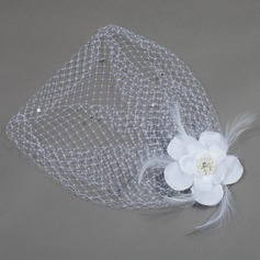 Romantic Feather/Satin Fascinators