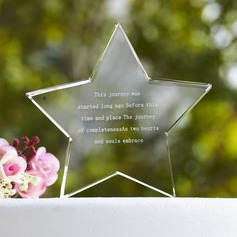 Personalized Star Design Crystal Crystal Items/Cake Topper