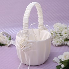 Lovely Flower Basket in Satin