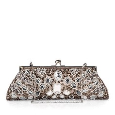 Unique Satin With Beading/Sequin/Rhinestone Clutches