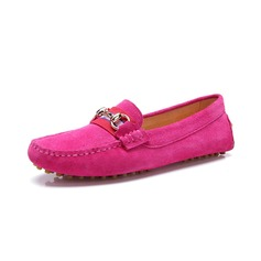 Real Leather Flat Heel Flats Closed Toe With Sequin shoes