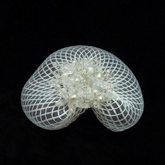 Lovely Crystal Tulle Fascinators Birdcage Veils