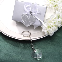 Heart Shaped Stainless Steel Keychains