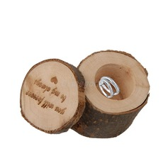 """you will forever be my always""/Shabby Rustic Ring Box in Wood (Set of 3) (103103586)"