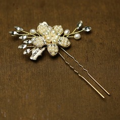 Amazing Rhinestone/Imitation Pearls Hairpins