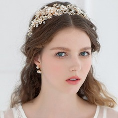 Gorgeous Rhinestone/Imitation Pearls Tiaras (042096363)