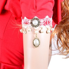 Elegant Alloy/Lace With Imitation Pearls Ladies' Body Jewelry