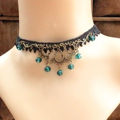 Chic Alloy Crystal Lace With Imitation Crystal Lace Ladies' Fashion Necklace