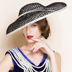 Ladies' Fancy Summer Cambric With Bowler/Cloche Hat