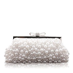 Charming Silk/Pearl With Rhinestone Clutches