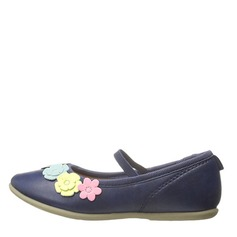 Girl's Baby's Leatherette Flat Heel Closed Toe Flats With Flower