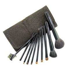 Coffee Time Makeup Brush With Free Leather Pouch