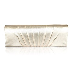 Gorgeous Satin/Silk With Ruffles Clutches/Cross-Body Bags