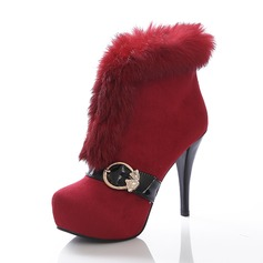 Women's Suede Stiletto Heel Boots shoes