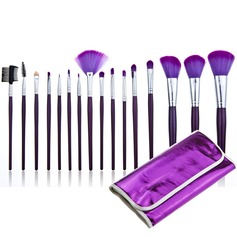 Trendy Purple Makeup Brushes (16 Pcs)