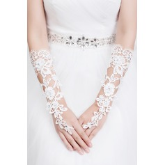 Lace Elbow Length Bridal Gloves (014072544)