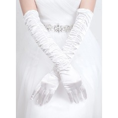 Satin Opera Length Bridal Gloves