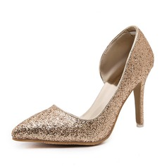 Women's Sparkling Glitter Stiletto Heel Pumps Closed Toe shoes (085090415)