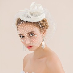 Exquisite Net Yarn/Cambric Fascinators (042079989)