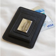Personalized Concise Leather Money Clips
