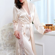 Artificial Silk/Chiffon Feminine Sleepwear(More Colors)