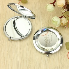 Personalized Lovely Girl&Boy Stainless Steel Compact Mirror