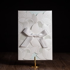 Personalized Classic Style/Floral Style Side Fold Invitation Cards With Bows