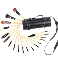 Drums Wood Professional Makeup Brushes (18 Pcs )