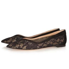 Lace Flat Heel Flats Closed Toe shoes