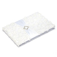 Lovely Rose Satin Sash Guestbook/Pen Set
