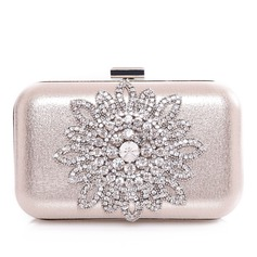 Fashional Satin/Metal With Glitter/Rhinestone Clutches