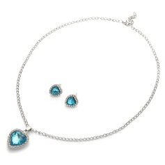 """Heart of the Ocean"" Alloy/Rhinestones Ladies' Jewelry Sets"