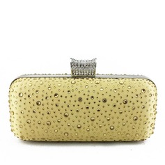 Charming Satin/Crystal/ Rhinestone Clutches