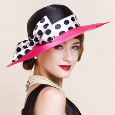 Ladies' Fashion Summer Polyester With Bowknot Bowler/Cloche Hat