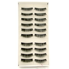 Manual Looking Curved Lashes 008# - 10 Pairs Per Box