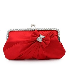 Charming Silk With Bowknot/Rhinestone Clutches