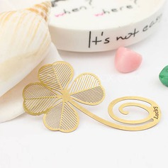 Clover Shaped Zinc Alloy Bookmarks & Letter Openers