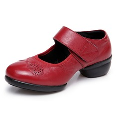 Women's Real Leather Pumps Jazz Practice Dance Shoes
