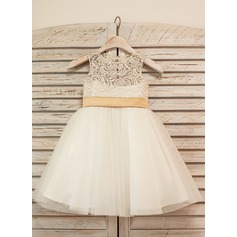 Princess Tulle/Lace Girl Dress With Bows (010090576)