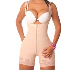 Cotton Blends Adjustable Straps Shapewear (125094612)